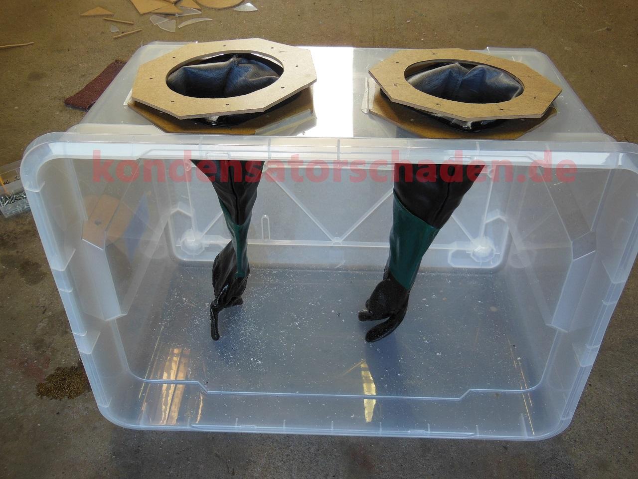how2 sandstrahlkabine selbst gebaut. Black Bedroom Furniture Sets. Home Design Ideas