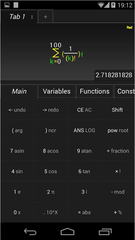 TabCalc – grafischer Taschenrechner für komplexe Zahlen